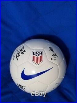 Crystal Dunn, Sam Mewis, Abby Dahlkemper, Jessica McDonald signed Soccer Ball