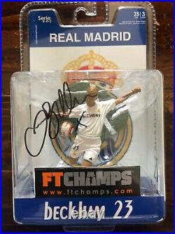 DAVID BECKHAM Autographed FT Champs 3 Ultra Rare REAL MADRID MIB Signed