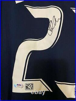 DAVID BECKHAM Signed Autograph AUTHENTIC ADIDAS LA Galaxy Soccer Ball Jersey PSA