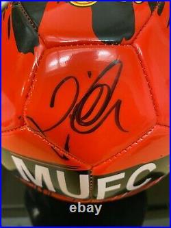 DAVID BECKHAM Signed Autograph MANCHESTER UNITED Soccer Ball PSA #AJ23865