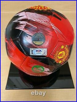 DAVID BECKHAM Signed Autograph MANCHESTER U Soccer Ball EXACT PHOTO PROOF & PSA