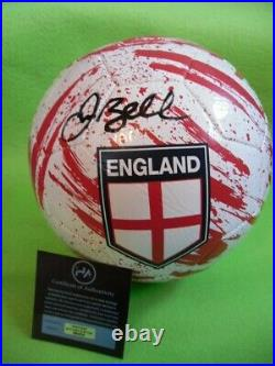 DAVID BECKHAM Signed Football England Certified COA