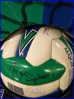 DEF LEPPARD SIGNED SOCCER BALL By All 5-Elliot Savage Collen Allen Campbell