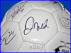 David Beckham Landon Donovan 07/08 LA Galaxy Team Signed Soccer Ball JSA