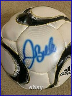 David Beckham Signed Adidas Soccer Rep Game Un Used Ball JSA World Cup England