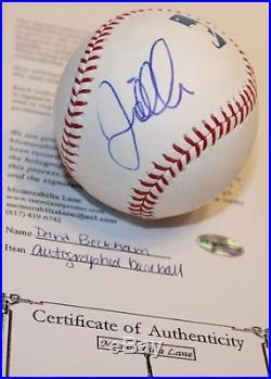 David Beckham Signed OML Baseball Auto International Soccer Superstar HOLO 2889