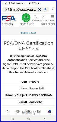 David Beckham Soccer Ball PSA DNA Autographed Authenticated