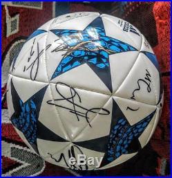 De Gea Pogba Lukaku Rasford Manchester United Team Signed Adidas Soccer Ball EPL