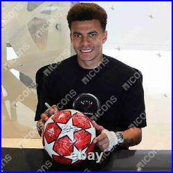 Dele Alli Tottenham Hotspur Signed 2019 UEFA Champs League Final Soccer Ball