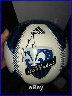 Didier Drogba signed autographed montreal impact soccer ball! COA! RARE! CHELSEA