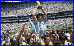 Diego Maradona signed / autographed football Soccer ball. Shirt Photo Proof