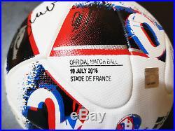 EURO 2016 CHAMP Portugal Signed FRACAS MDT FINAL(vs France) Official Match Ball