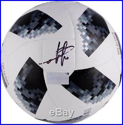 Eden Hazard Belgium Autographed 2018 FIFA World Cup Telstar Soccer Ball