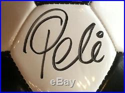 Edson Pele Signed Wilson Soccer ball mint autograph Grandstand COA