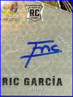 Eric Garcia Barcelona 20-21 Panini Mosaic Autographs Auto Gold Disco Balls 2/10