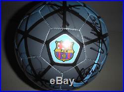 FC BARCELONA 2015/16 SIGNED BALL SOCCER FOOTBALL by MESSI-SUAREZ-NEYMAR-INIEST