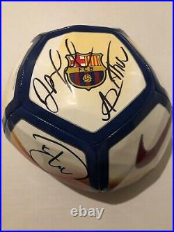 FC BARCELONA BALL SIGNED AUTOGRAPH X3 BRAZIL Arthur Malcom Rafinha