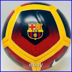 FC Barcelona Ronaldinho Signed Nike Soccer Ball Autographed BAS Beckett Witness