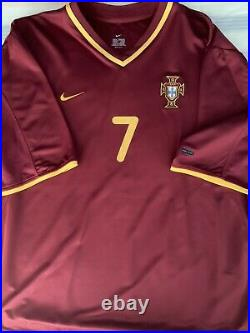 FIGO Signed Shirt Jersey Real Madrid Barcelona FC Sporting Portugal FIFA Messi