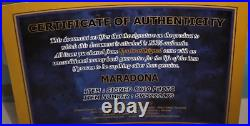 FOTO DIEGO ARMANDO MARADONA Autografata Signed + COA Photo Autograph Mararadona