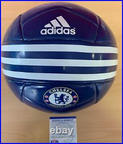 Frank Lampard Signed Soccer Ball Photo Psa Certified Chelsea England #1