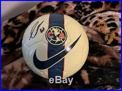 GIOVANI DOS SANTOS signed auto NIKE Club America Soccer ball MEXICO