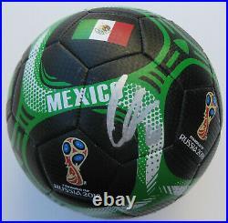 Giovani Dos Santos signed autographed Mexico logo Soccer ball COA exact proof