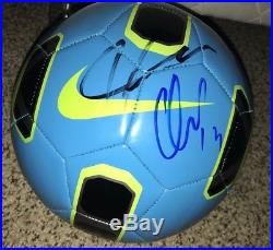 Guillermo Memo Ochoa & Javier Chicharito Hernandez Signed Soccer Ball Proof