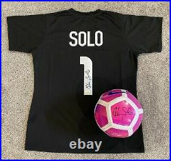 HOPE SOLO Autographed USWNT Jersey & Nike Soccer Ball Both JSA Certified