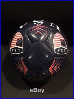 HOPE SOLO Signed Autograph USA Soccer Ball size 5 with case Authenticated