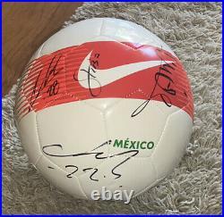 Hirving Lozano Andres Guardado Tecatito +more Signed Mexico Team Soccer Ball