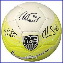 Hope Solo Abby Wambach Christen Press USA Soccer Signed Nike Soccer Ball JSA