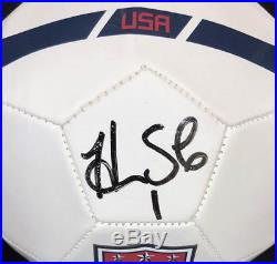 Hope Solo SIGNED Team USA Soccer Ball Legend Olympics ITP PSA/DNA AUTOGRAPHED