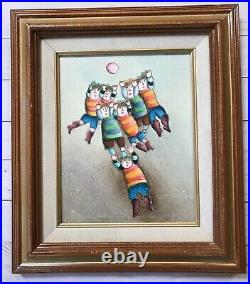 J Roybal Original Oil Canvas Painting Kids Playing Ball Soccer