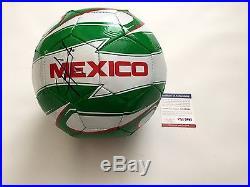 Javier Chicharito Hernandez Signed Team Mexico Soccer Ball PSA DNA COA PROOF b
