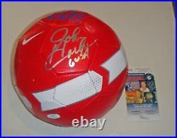 John Harkes SIGNED Nike United States Soccer Ball JSA DC UNITED NE Revolution
