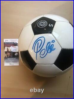 Jsa Auto Pele Signed Soccer Ball Brazil Football World Cup Cosmos Legend Size 5