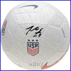 Julie Ertz US Womens National Team Signed White Nike USA Logo Soccer Ball