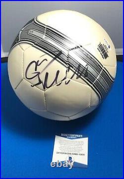 Juventus Cristiano Ronaldo Portugal Signed Soccer Ball Beckett BAS