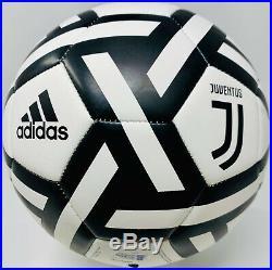 Juventus Cristiano Ronaldo Signed Adidas Soccer Ball Beckett BAS Witnessed