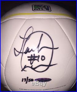 LANDON DONOVAN Autographed Adidas LA Galaxy Tropheo replica Match Ball 17/50