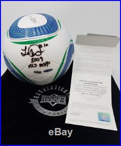 LANDON DONOVAN Signed 2009 MLS MVP MLS Match Soccer Ball UDA LE 16/110