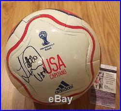 LANDON DONOVAN signed autographed USA soccer ball COA JSA Photo PROOF WORLD CUP