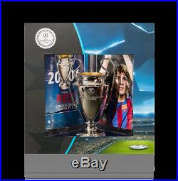 LIONEL MESSI Signed Barcelona UEFA 2006 Replica Trophy Display ICONS