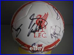LIVERPOOL FC 2015/16 SIGNED BALL SOCCER FOOTBALL by FIRMINO-COUTINHO-STURRIDGE