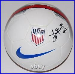 LYNN WILLIAMS signed TEAM USA WOMEN'S SOCCER ball (NORTH CAROLINA) PROOF WithCOA