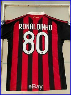Legend Ronaldinho's Own Jersey, Serie A, 2008/2009, Signed By Every Player