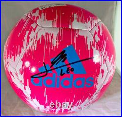 Lionel Leo Messi / Autographed Adidas Glider Brand Full Size Soccer Ball / Coa