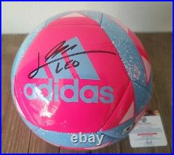Lionel Leo Messi Autographed Soccer Ball COA Barcelona Barca Football