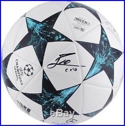 Lionel Messi Barcelona Autographed 2017-18 Champions League Soccer Ball
